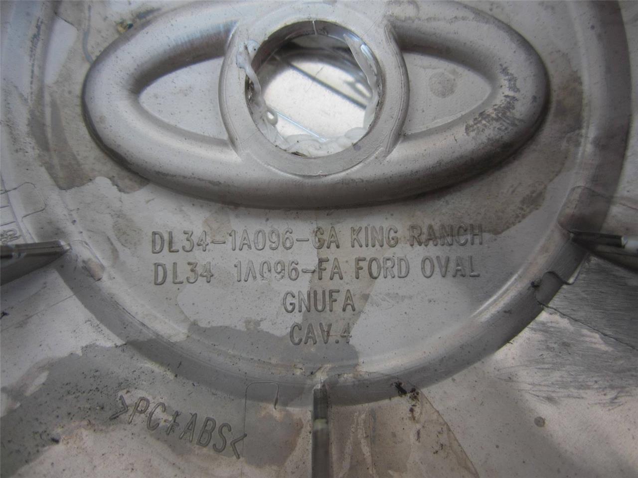 DL34-1A096-GA OEM 2009-2014 FORD F-150 F150 KING RANCH CHROME CENTER CAP HUB CAP