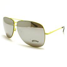 Square AVIATOR Sunglasses Spring Hinge Mirrored YELLOW - $9.26