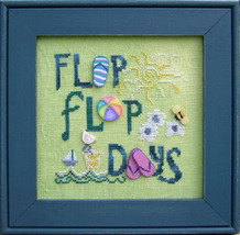 Flip Flop Days 7415 Stitch Every Day button pack + cross stitch chart JABC - $9.45