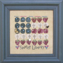 Sweet Liberty 7412 Stitch Every Day button pack + cross stitch chart JABC - $14.85