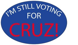 I'm Still Voting for Cruz 2016 Political 4x6 Anti Trump Hillary Car Magn... - $5.99
