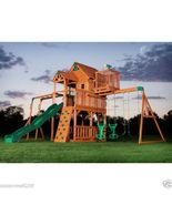 Skyfort II Cedar Swing Set, Outdoor Play Equipemnt, Wooden Playground, New - $1,558.99