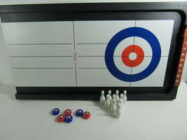 Tabletop 2 In 1 Shuffleboard Bowling Curling Game Set Family Fun - $9.89