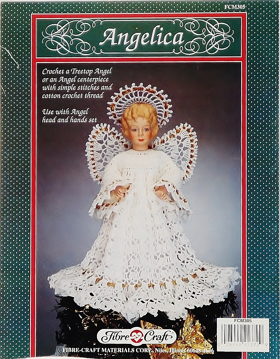 Fibre Craft Angelica (Angel) Crochet Pattern Leaflet FCM 305 1992