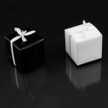 "120pk Black White Wedding Favor Candy Boxes Jewelry Party Supplies 2""x2""... - $19.95"
