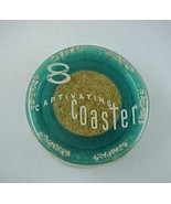 8 Vintage Captivating Blue Plastic Coasters wit... - $3.99