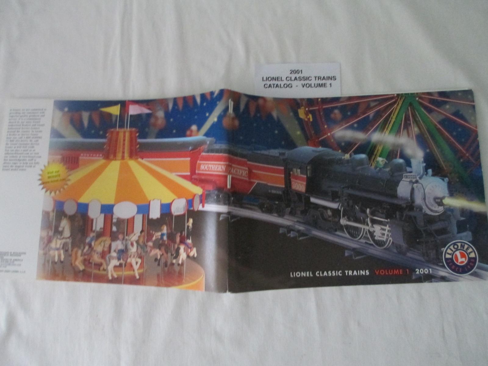 Lionel 2001 Catalog Classic Trains Volume 1 NM Condition