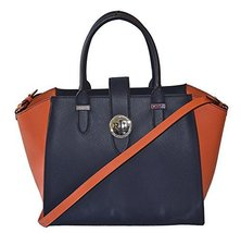 LAUREN Ralph Lauren Leather Charlesston Wing Satchel Handbag Purse - $189.05