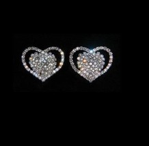Gorgeous Pave Open Heart  Shoe Clips Charms--1 ... - $21.78
