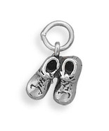Pair of Baby Shoes Silver Charm - $24.95
