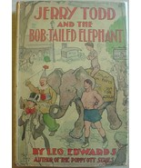 JERRY TODD AND THE BOB-TAILED ELEPHANT #9 hcdj Leo Edwards author of Pop... - $32.00