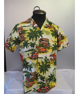 Retro Hawaiian Shirt - RJC - Surfboards and VW Beetles - Men's Medium  - $49.00