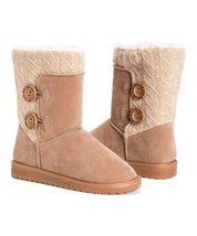 New Womens Muk Luks Matilda Sweater Boots Size 9 Beachwood - $46.74