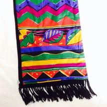 80's 90's MOD Wearable Art BETMAR FRINGED Recta... - $22.78
