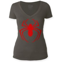 The Amazing Spider-Man Spidey Red Logo Deep V-Neck Jr fitted T-shirt Jr ... - £14.45 GBP - £20.17 GBP