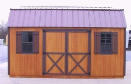 AMISH PA DUTCH CUSTOM QUALITY HANDMADE 12X16 UTILITY DUTCH BARN STORAGE ... - $3,921.50
