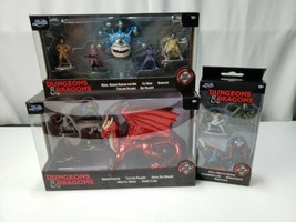 Jada Toys Dungeons & Dragons Die Cast lot of 3 sets Figures, Dragon New ... - $56.06
