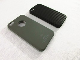Lot of 2 Apple iPhone 4/S Cases: Elago (Matte Gray) & TuneWear (Textured... - $7.24