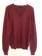 Prada Men's Light Maroon Luxury Knit V-Neck Sweater New Without Tags Siz... - $186.83