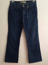 Express Precision Fit Sarula Blue Straight Bootcut Cotton Jeans Size 4R New - $20.56