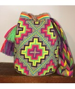 Authentic 100% Wayuu Mochila Colombian Bag Large Size 10 Colors Matizada... - £75.71 GBP