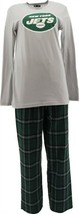 NFL Men's Pajama Set Long Slv Top Flannel Pants Jets S NEW A387683 - $30.67