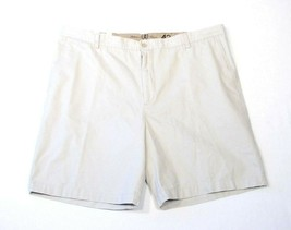 Izod Saltwater Stone Weathered Twill Chino Flat Front Shorts Men's NWT - $37.49
