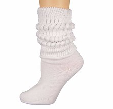 Heavy Slouch Sock Women's White Elliesox Excell Lis-Mar Charlotte - $13.11