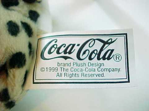 1999 Coke Coca-Cola Heeta the Cheetah from Namibia International Bean Bag