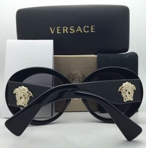 New VERSACE Sunglasses VE 4298 5156/11 55-20 Black & Gold Glitter w/ Gra... - $319.95
