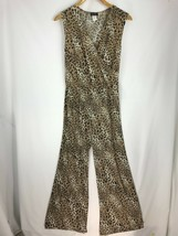 Star Vixen Women Jumpsuit Cheetah Print Pants Sleeveless Plus Size 1X  - $47.42