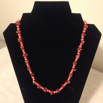 Agate and Pearl Necklace - $10.00