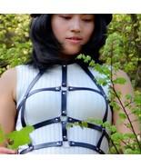 women genuine leather black sexy cage bra exotic apparel fashion gothic ... - $98.00+
