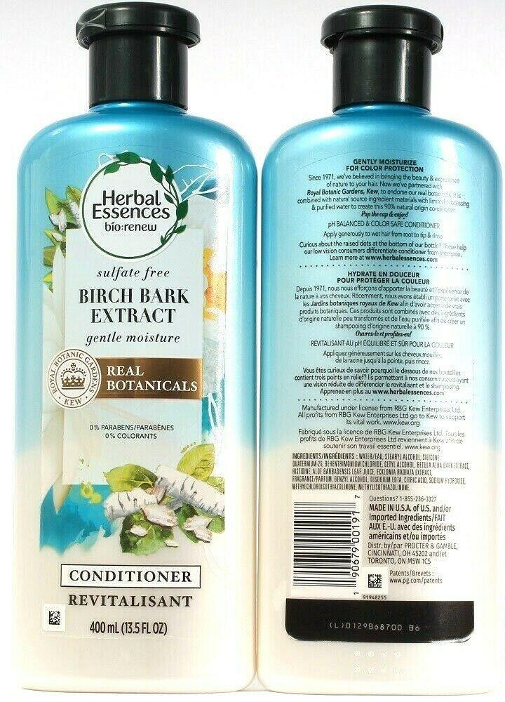 2 Bottles Herbal Essences 13.5 Oz Birch Bark Extract Gentle Moisture Conditioner - $21.99