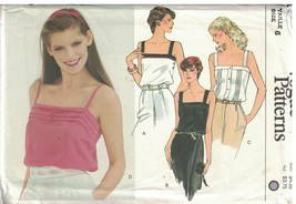 7607 sin Cortar Vogue Costura Patrón Misses Entallado Hip Largo Camisone... - $4.89