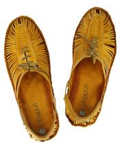 eKolhapuri Attractive light yellow kolhapuri bantu shoe for men   - $63.00