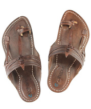 eKolhapuri Kurundwadi dark brown colour kolhapuri chappal  - $54.00