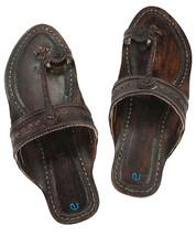 eKolhapuri Punching design dark brown women sandal - $51.00