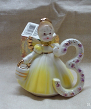 Vintage JOSEFS ORIGINALS Birthday Girl Age 3 Figurine - Birthday Angel Cake Topp - $13.00