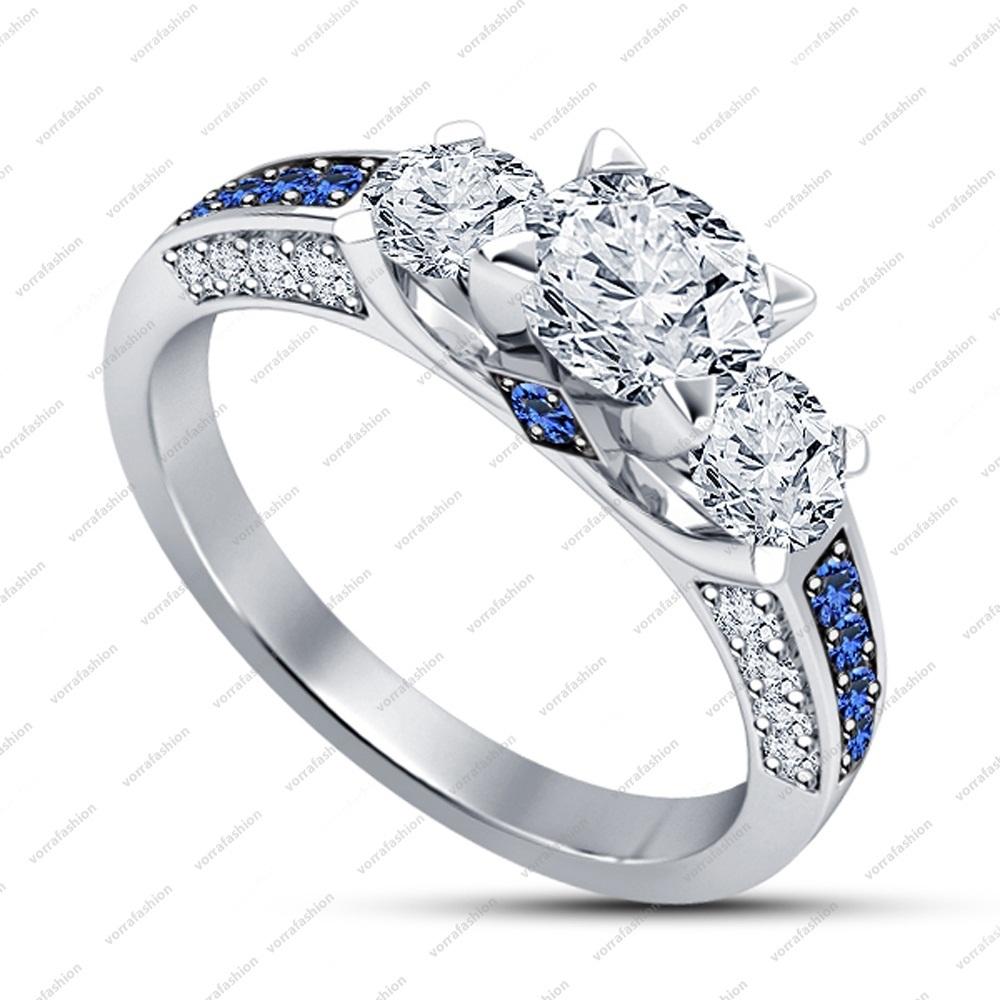 Lab Diamond 925 Sterling Silver Wedding Affordable Engagement Ring Vintage St