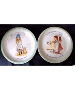 1972 Holly Hobbie Collector's Edition Plates USA  American Greetings Set... - $29.35