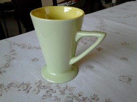 Retro style green and yellow mug near mint condition - $10.99