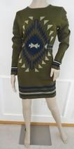 Nwt Romeo & Juliet Couture Knit Sweater Dress Sz M Medium Olive  Metalli... - $59.35