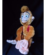 "Disney Aladdin Abu Monkey Disney Store Plush 18"" satin hat velvet vest RARE - $48.95"