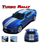 2016 Chevy Camaro Turbo Rally Dual Racing Stripes Vinyl Graphic Decal SS... - $251.99