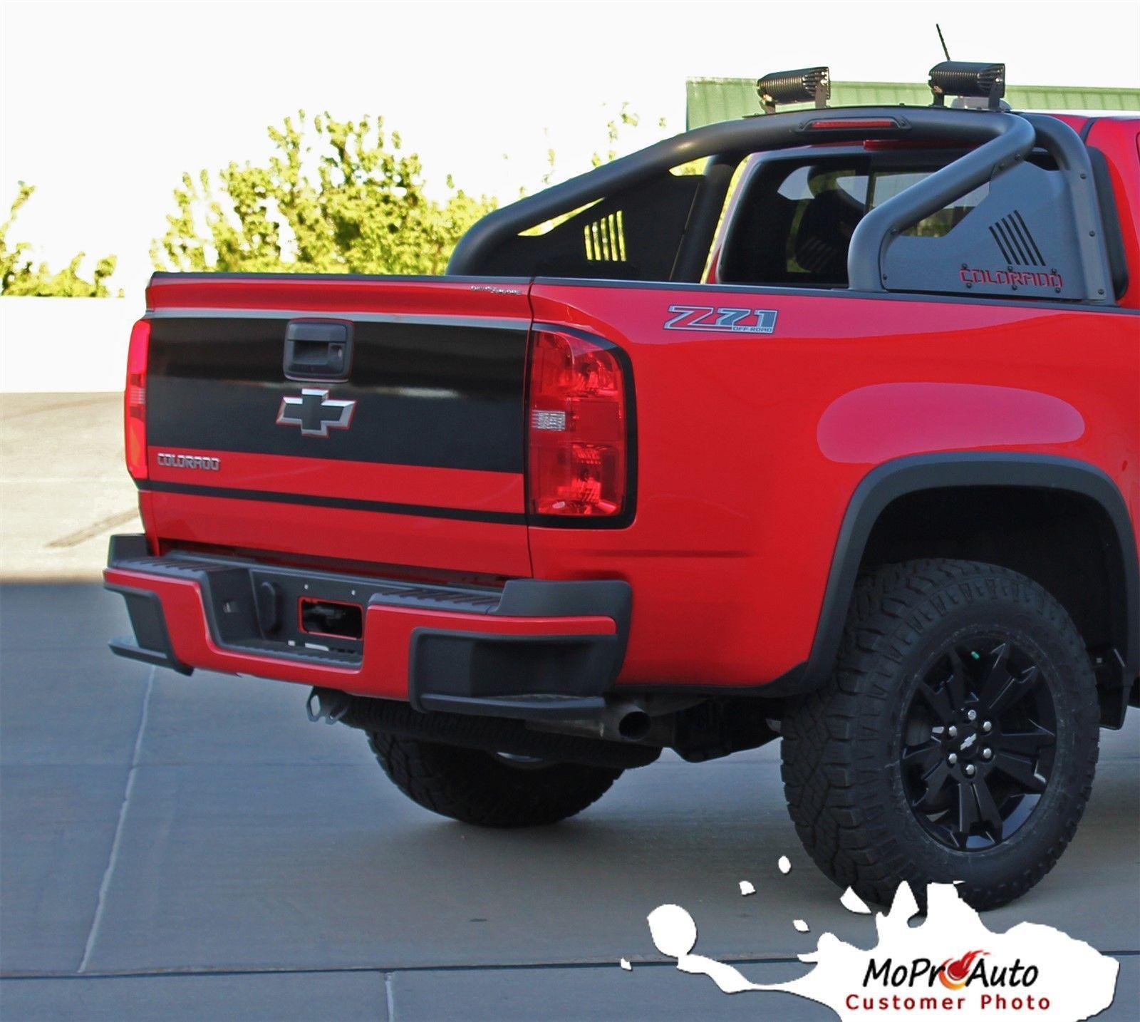 Black Zr2 Colorado: 2016-2017 Chevy Colorado Tailgate Truck Blackout Vinyl