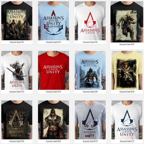 T shirt Assassins Creed Many Color & Design Option