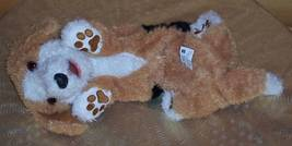 "FurReal TUMBLES Tan White Black Roll Over Pup 15"" Sound & Movement Dog - $14.59"