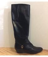 Vintage Ferragamo Boots Black Leather Women 8.5 S AAAA Narrow with damage - £21.30 GBP