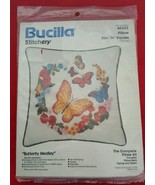 Bucilla Stitchery Butterfly Medley Crewel Pillo... - $36.25